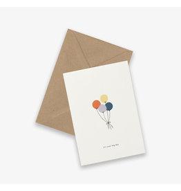 Kartotek Wenskaart - Balloons - Dubbele kaart en Enveloppe - A6