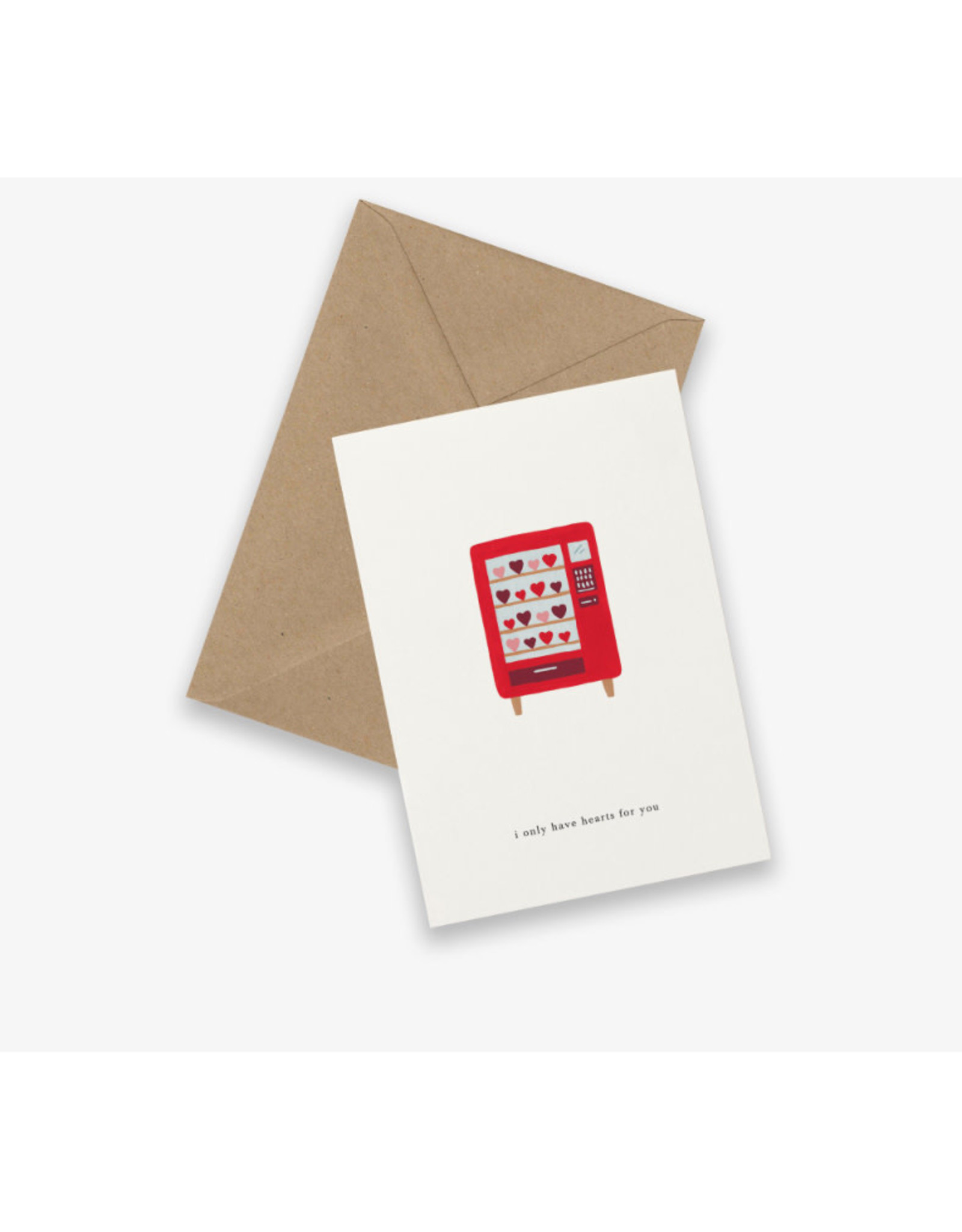 Kartotek Wenskaart - Vending machine - Dubbele kaart en Enveloppe - A6