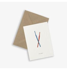 Kartotek Wenskaart - Toothbrush - Dubbele kaart en Enveloppe - A6