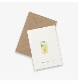 Kartotek Wenskaart - Soda can - Dubbele kaart en Enveloppe - A6