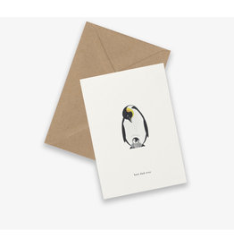 Kartotek Wenskaart - Pinguïn, Best dad - Dubbele kaart en Enveloppe - A6