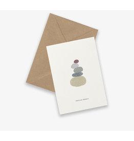 Kartotek Wenskaart - Rock Balance - Dubbele kaart en Enveloppe - A6