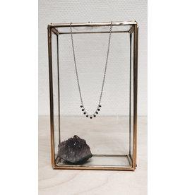 Rose Marie Paris Ketting - Zilvere Dots - Lengte 43 tot 45 cm