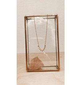 Rose Marie Paris Ketting - Gouden Dots - Lengte 43 tot 45 cm