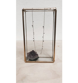 Rose Marie Paris Ketting - Asym Zilver Dots - Lengte 43 tot 45 cm