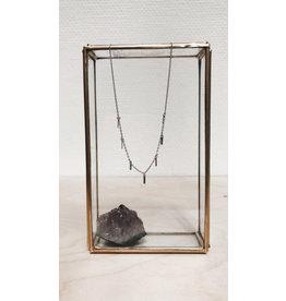 Rose Marie Paris Ketting - Zilver staafjes - Lengte 43 tot 45 cm