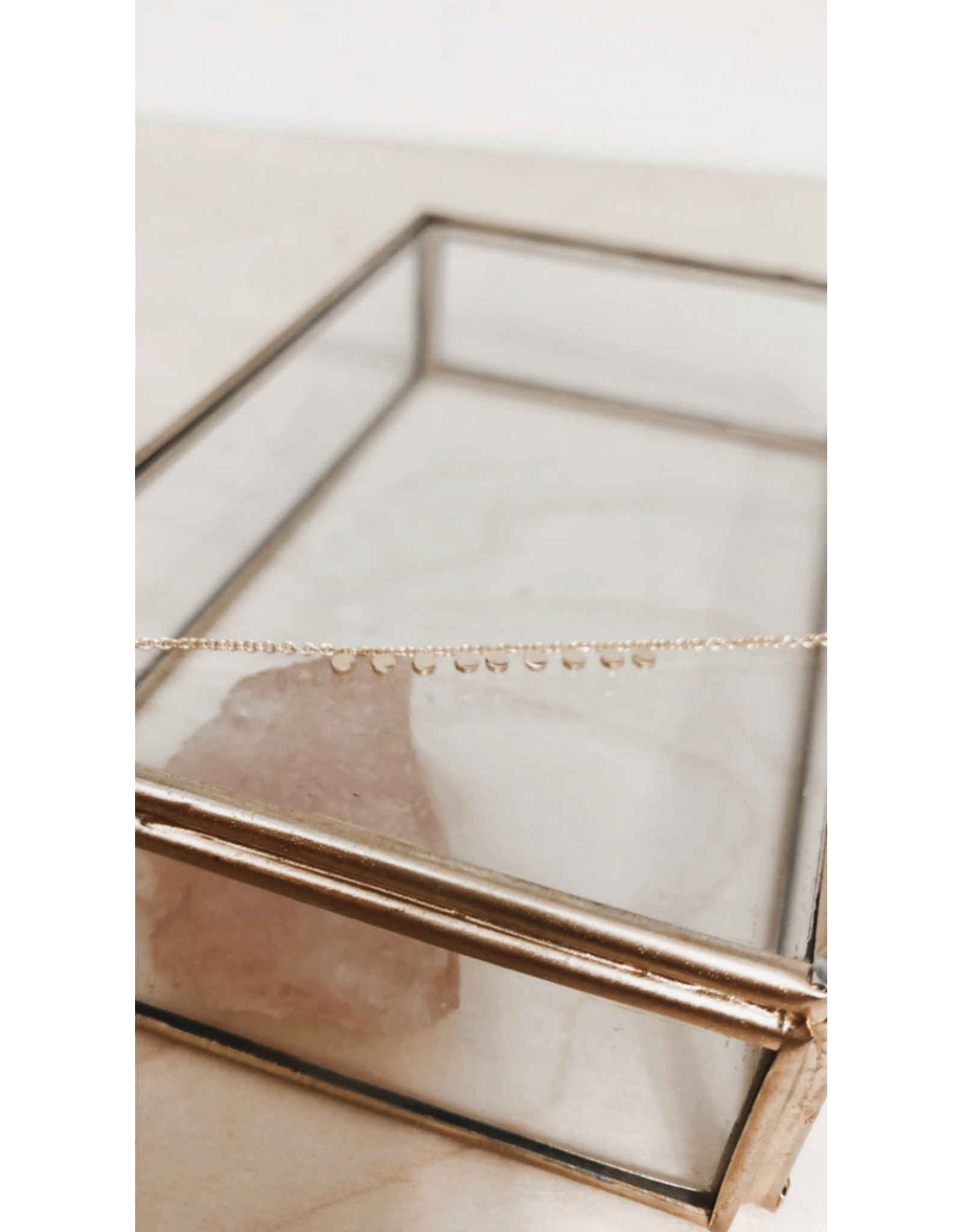 Rose Marie Paris Armband - Gouden Dots - Lengte 17cm