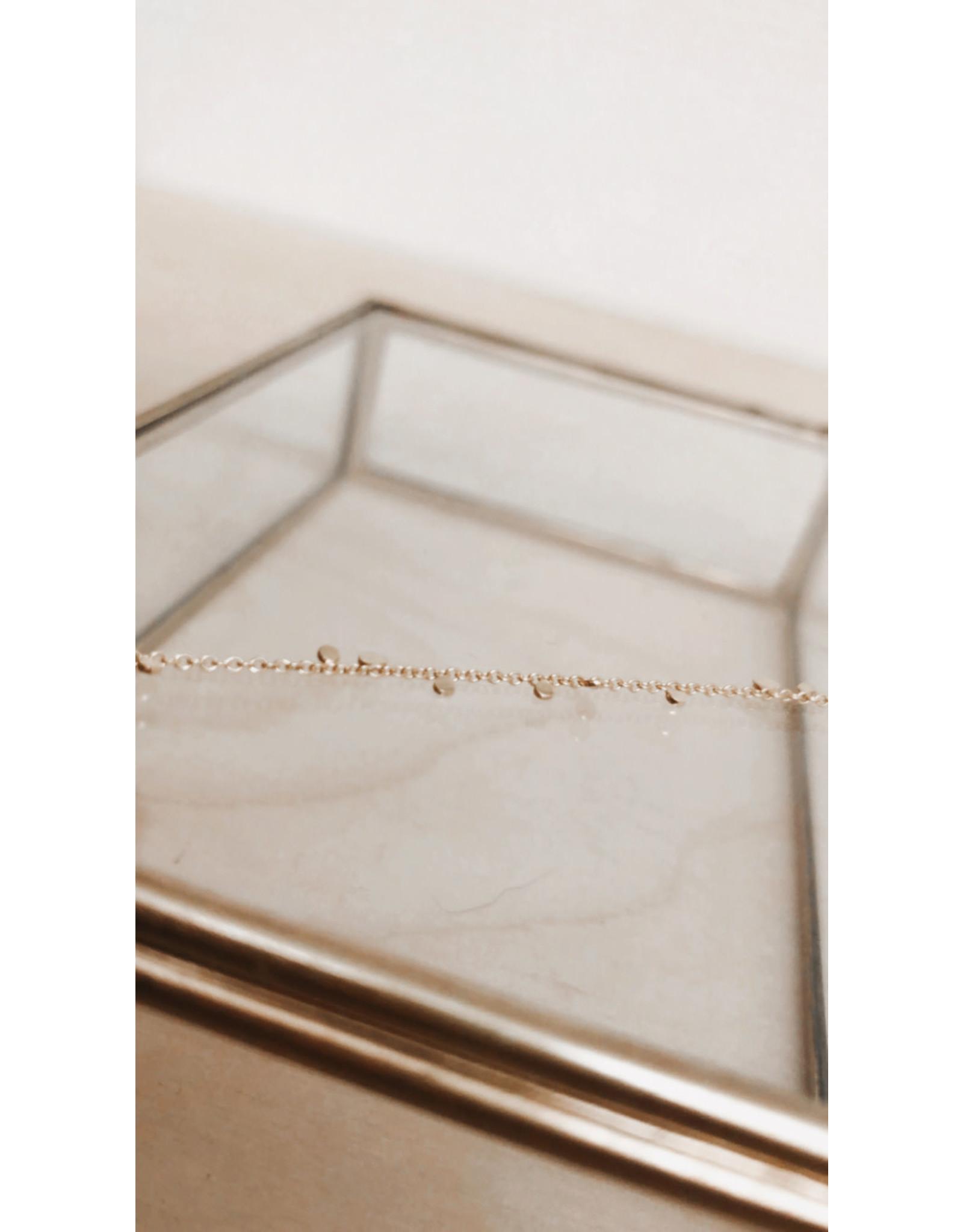 Rose Marie Paris Armband -  Asym Gouden Dots - Lengte 17cm