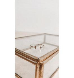 Rose Marie Paris Ring - Twee parallelle staafje - Goud