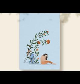 Flore Deman Wenskaart - Bloemen - Postkaart en Enveloppe - A6