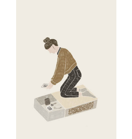 Tina Sosna Wenskaart - Letting go - Postkaart en Enveloppe - A6