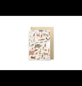 Petit Gramme Wenskaart, Demain - Dubbele kaart + Envelop - 11,5 x 16,5 - Blanco