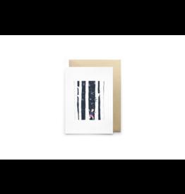 Petit Gramme Wenskaart, Bouleaux - Dubbele kaart + Envelop - 11,5 x 16,5 - Blanco