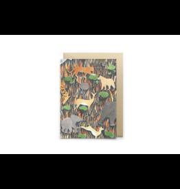 Petit Gramme Wenskaart, Savane  - Dubbele kaart + Envelop - 11,5 x 16,5 - Blanco