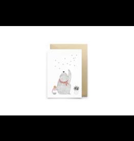 Petit Gramme Wenskaart, Les Étoiles - Dubbele kaart + Envelop - 11,5 x 16,5 - Blanco