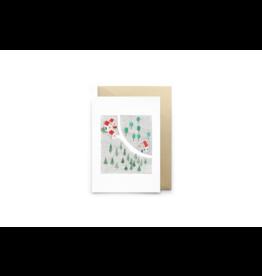 Petit Gramme Wenskaart, Norge - Dubbele kaart + Envelop - 11,5 x 16,5 - Blanco