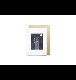 Petit Gramme Wenskaart, Pleine Luna - Dubbele kaart + Envelop - 11,5 x 16,5 - Blanco
