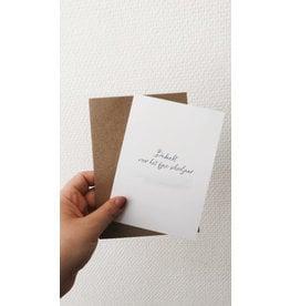 Mus in een Plas Wenskaart - Bedankt voor het fijne schooljaar - Postkaart en Enveloppe - A6