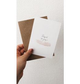 Mus in een Plas Wenskaart - Dag juf, tot ziens X - Postkaart en Enveloppe - A6