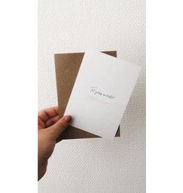 Mus in een Plas Wenskaart - Tot ziens meester ! - Postkaart en Enveloppe - A6