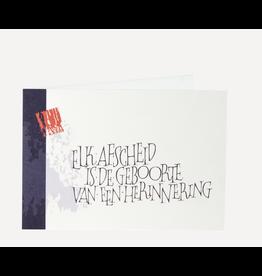 symposion Wenskaart - Het Afscheid - Dubbele wenskaart + Enveloppe