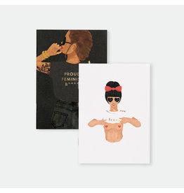 ATWS Zaknotitieboekje - Feminist Duo - 10,5 x 14,8