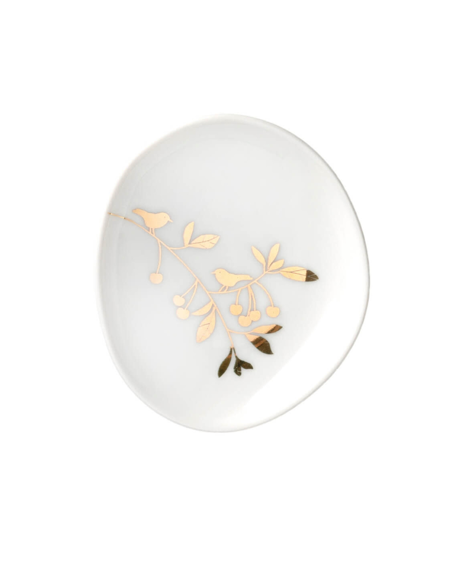 Raeder Bord Wonderland - 3st - Gouden bloemen en olifant - 9x5,5cm tot 11x11cm