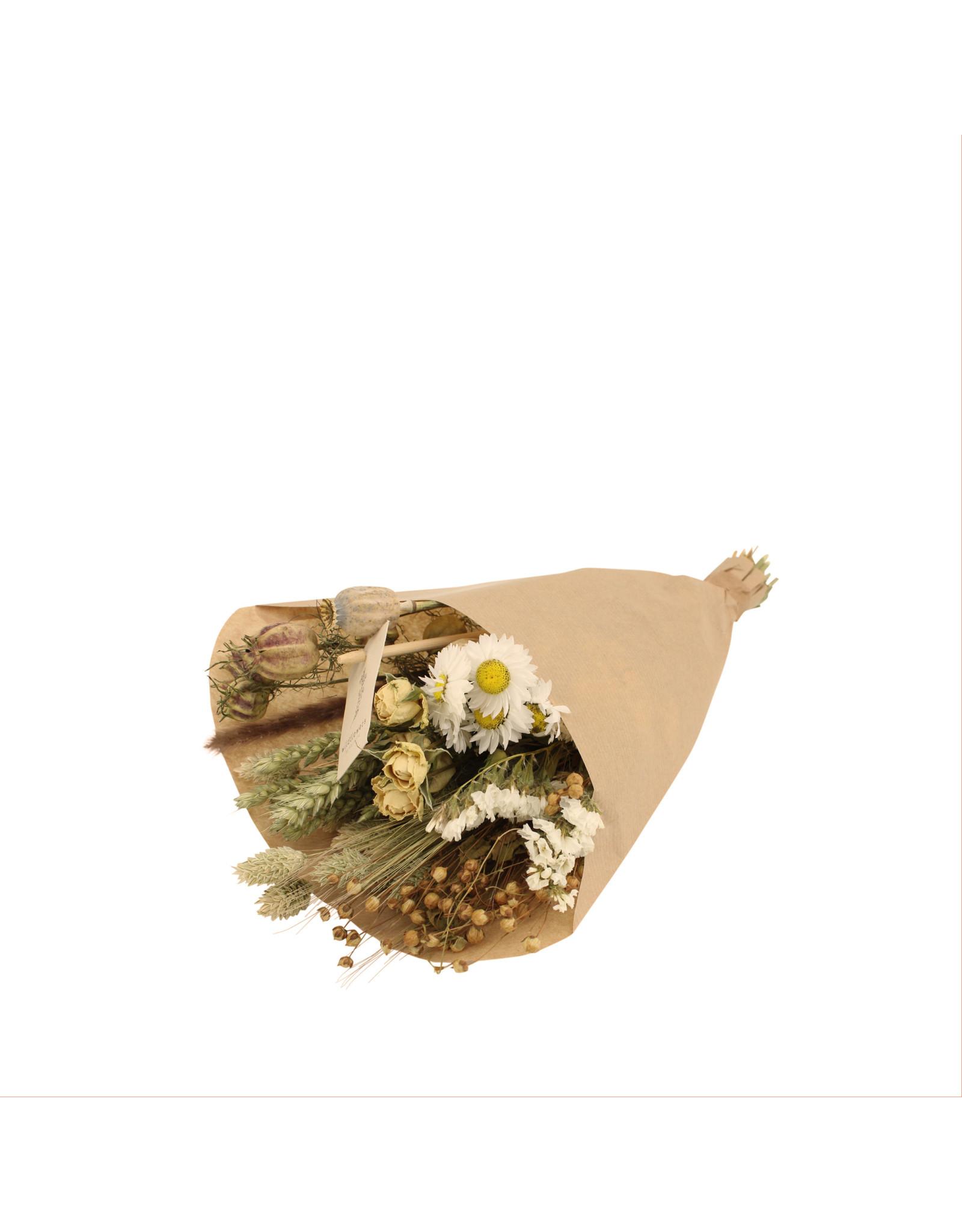Wildflowers by floriette Boeket droogbloemen Small  - Naturel - Veldbloemen - 35 x 12 cm