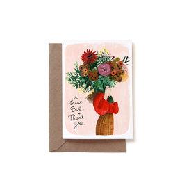 Reddish Design Wenskaart - Big Thank You - Dubbele kaart + Envelope - 10 x 15cm