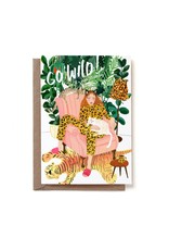 Reddish Design Wenskaart - Go Wild Birthday - Dubbele kaart + Envelope - 10 x 15cm