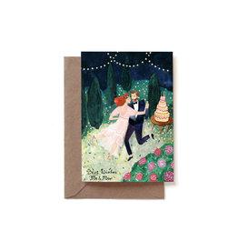 Reddish Design Wenskaart - Wedding Dance Couple - Dubbele kaart + Envelope - 10 x 15cm