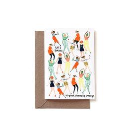 Reddish Design Wenskaart - Let's Party invite - Dubbele kaart + Envelope - 10 x 15cm