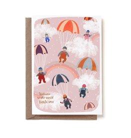 Reddish Design Wenskaart - Baby Sky - Dubbele kaart + Envelope - 10 x 15cm