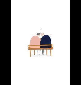 Klein liefs Wenskaart - Samen oud worden - Dubbele kaart + Envelop