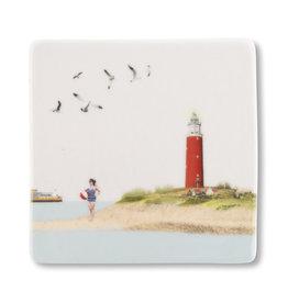 Storytiles Mini Tegel / Magneet -  Terug van Texel - 5 x 5 cm