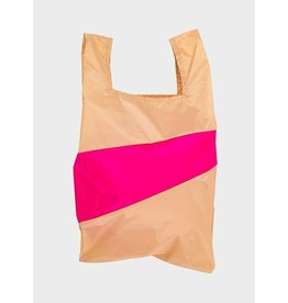 Susan Bijl Shopping bag L, Peach & Pretty pink   37,5 x 69 x 34cm