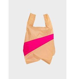 Susan Bijl Shopping bag M,  Peach & Pretty pink | 27 x 55 x 18 cm
