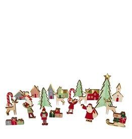 Meri Meri Adventskalender - Kerstdorpje