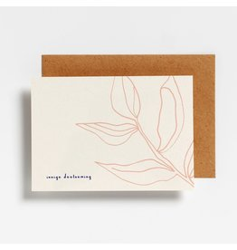 Hello August Wenskaart - Innige deelneming  - Postkaart + enveloppe- A6 - Blanco