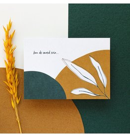 Hello August Wenskaart - Hou de moed erin  - Postkaart + enveloppe- A6 - Blanco