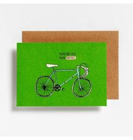 Hello August Wenskaart - You're not old, you're vintage - Postkaart + enveloppe- A6 - Blanco