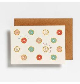 Hello August Wenskaart - Donuts - Postkaart + enveloppe- A6 - Blanco