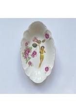 Lylies Diepere Ovaal Schaaltje - Roepend vrouwtje, bloem en roosje - Porselein - 14 x 24 cm