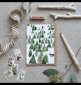 Dear Prudence Wenskaart- Kerst - Wander - Harmonica kaart + Envelop - 10 x 15 cm