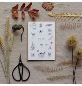 Dear Prudence Wenskaart - Flora, Mother's Day - Dubbele kaart + Envelop - 10 x 15 cm