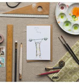 Dear Prudence Wenskaart - Ivory, You're so strong - Dubbele kaart + Envelop - 10 x 15 cm