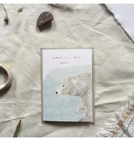Dear Prudence Wenskaart - Petra, Beautiful new baby - Dubbele kaart + Envelop - 10 x 15 cm