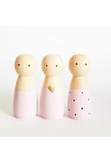 Sweet Petite Jolie BASIC Houten Popje Vrouw/Meisje - Licht Roze -
