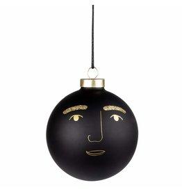 Raeder Kerstbal Marco - Zwart - Ø10cm