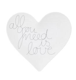 Raeder Schaaltje Hart - All you need is Love - 15 x 13,8 cm